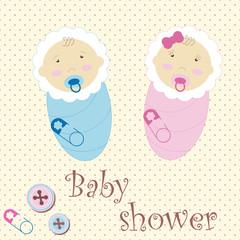Twins Baby Boy And Girl