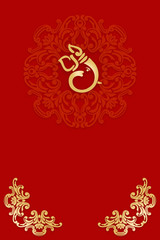 Greetings Invitation Card With Ganesha India Buy This