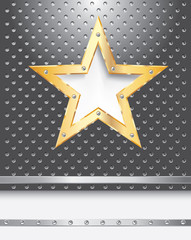 perforated gold star