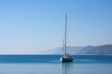 Sail boat and people, Adriatic sea
