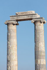 Ruined columns of ancient temple