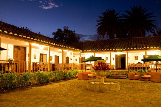 Courtyard with Fountain, long exposure night