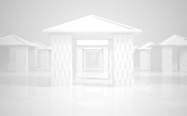 Abstract classical architecture. abstract white building