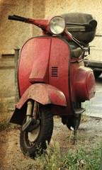 Fotorolgordijn Scooter Vintage scooter