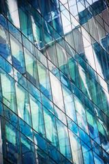 Windows of modern office building