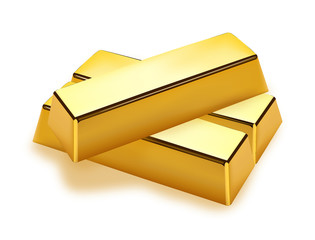 Realistic gold bars