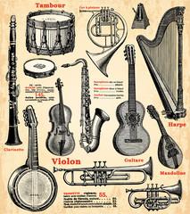 Wall Mural - Instruments de musique