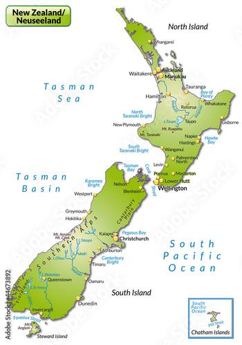 Quot Landkarte Von Neuseeland Quot Stockfotos Und Lizenzfreie