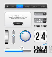 Web UI Elements Design Gray Blue: Part 2