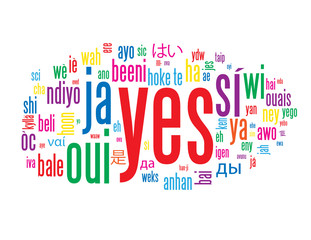 YES Tag Cloud (positive vote referendum ok tick quality service)