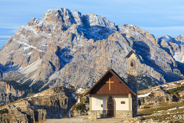 Chapel in mountains