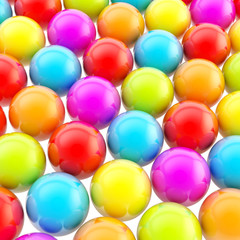Rainbow colored background made of colorful spheres
