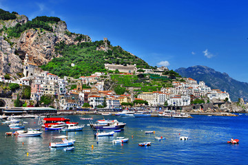 stunning coast of Amalfi, Italy