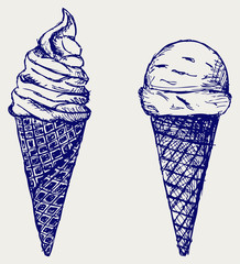 Soft serve ice. Sketch