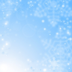 Christmas abstract background with snowflakes