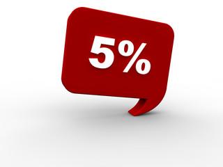 5 Prozent