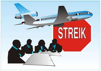 Flugstreik - Verhandlungen
