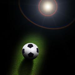 soccer ball under light