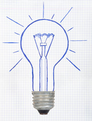 Drawing light bulb