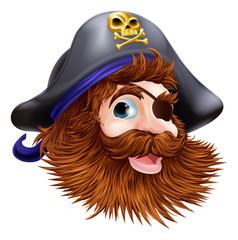 Foto op Plexiglas Piraten Pirate face illustration