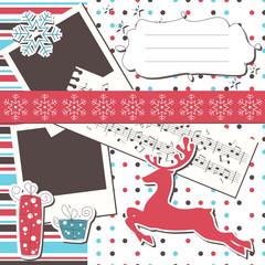 Christmas greeting scrapbook card