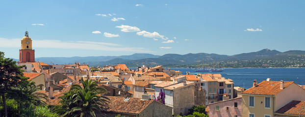 San Tropez with top view.