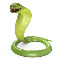 Green cobra bent in ring