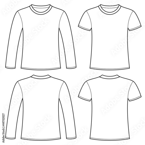 Long Sleeved T Shirt And T Shirt Template Stock Image And Royalty