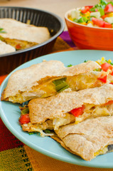 Chicken Quesadillas with  Cheese