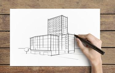drawing  skyscraper