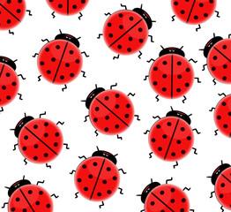 seamless ladybird wallpaper