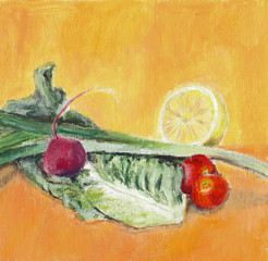 Vegetables - hand painted