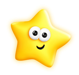 Whimsical Cute Cartoon Star