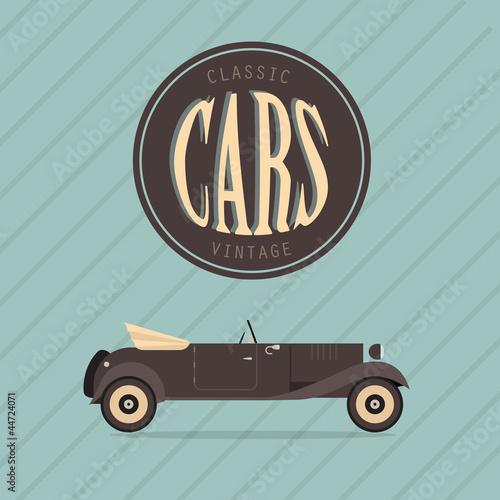 Wall mural Vector vintage classic car