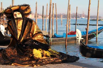 Beautiful venetian golden mask