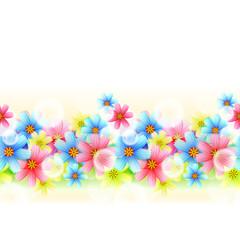 Wall Mural - Seamless Floral Border