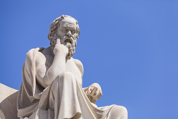 Fototapete - statue of Socrates, Academy of Athens,Greece