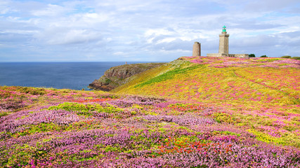 Wall Mural - Lighthouse on Cap Frehel. Brittany, France