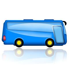 Bus illustration isolated on white background