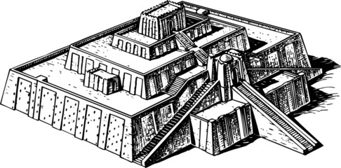 Ancient ziggurat