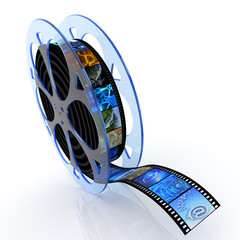 Film reel with images