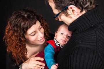 junge Familie mit Kleinkind