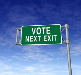 Vote Highway Sign