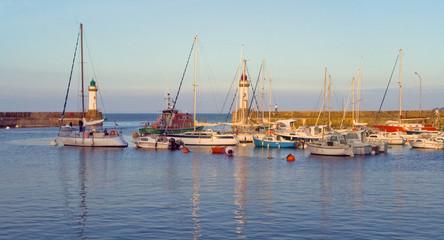 marina of La Palais the island of Belle Ile en Mer