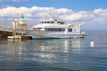 main ferry of Sauzon in the island - Belle Ile en Mer