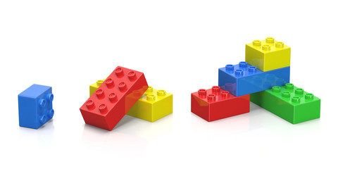 Colorful plastic blocks