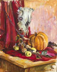Oil paints picture
