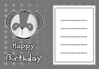 birthday card with illustration cute koala