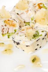 sweet rolls with banana sorbet