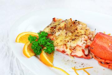 Lobster thermidor salad
